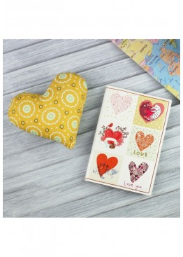"Обложка для паспорта BlankNote ""Love-is-in-the-air"" + notebook"