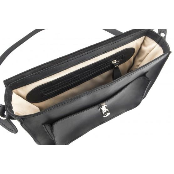Кожаная сумка Level Crazy Horse Fake M Black