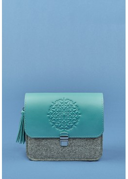 Бохо-сумка BlankNote Lilu Felt + Leather Tiffany