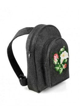 Рюкзак Felt for you  M1 with embroidery Black