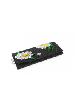 Ключница Felt for you M1 with embroidery Black