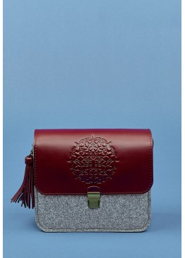 Бохо-сумка BlankNote Lilu Felt + Leather Grape